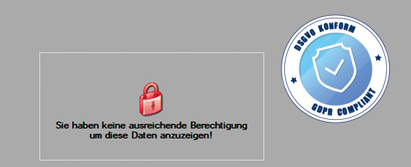 Mobile Easykey Software DSGVO Datenschutz Bedienrechte