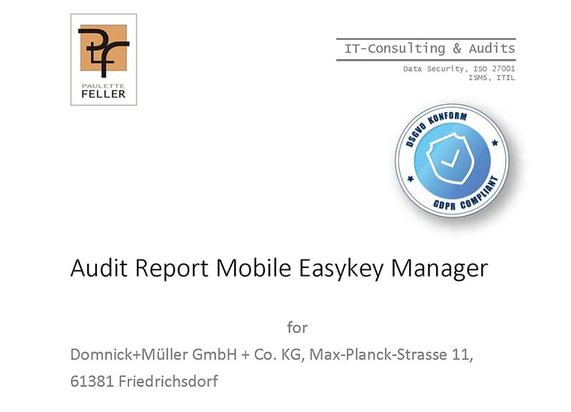 Mobile Easykey GDPR Audit