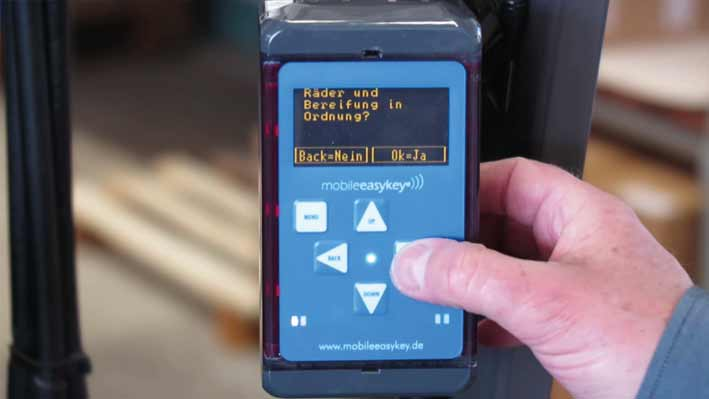 Mobile Easykey Abfahrtskontrolle